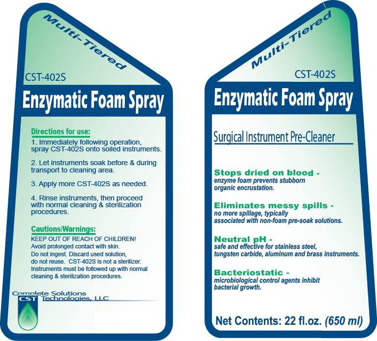 Enzymatic Foam Spray Surgical Instrument Care